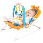 Кресло-качалка «Жирафик» с 3-мя игрушками, вибрацией и музыкой