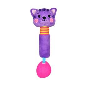 Игрушка - пищалка с прорезывателем «Котик»