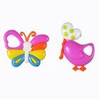 Набор погремушек «Птичка и бабочка», 2 шт