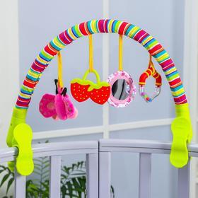 Soft play arc for a stroller / crib