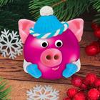 """Новогодний ёлочный шар, Набор для декорирования шара массой для лепки """"Хрюшка"""""""