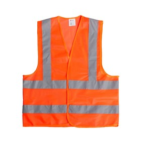 Жилет сигнальный, светоотражающий, оранжевый, 3 класс, размер 2XL, гост
