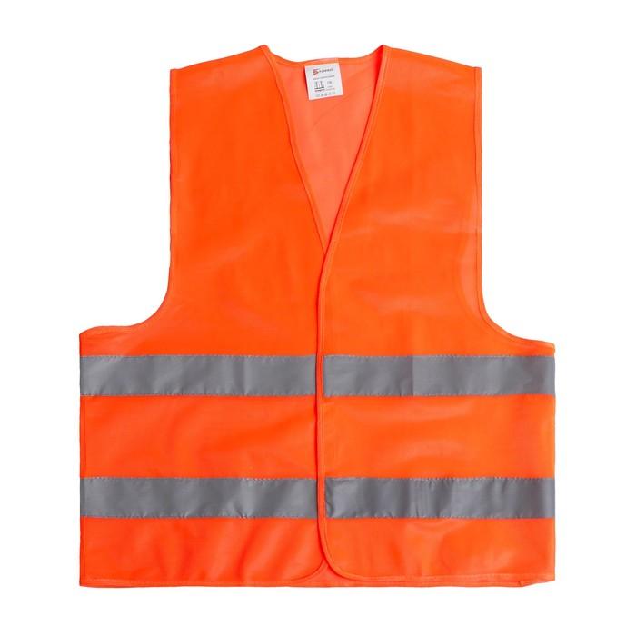 Жилет сигнальный, светоотражающий, 2 класс, усиленный, 2XL, оранжевый, гост
