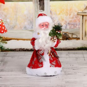 "Santa Claus ""In a red coat with a gift"" 30 cm"