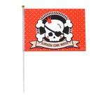 "Флаг пирата ""Королева семи морей"" 30х45 см+ флагшток"