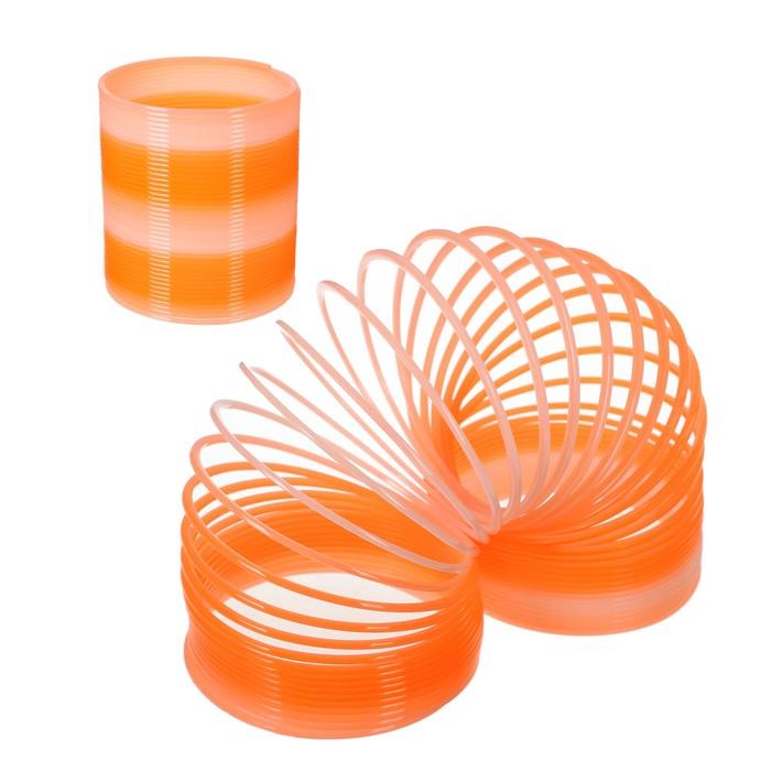 Пружинка-радуга 8,5х8,5х9,5 см, цвет оранжевый