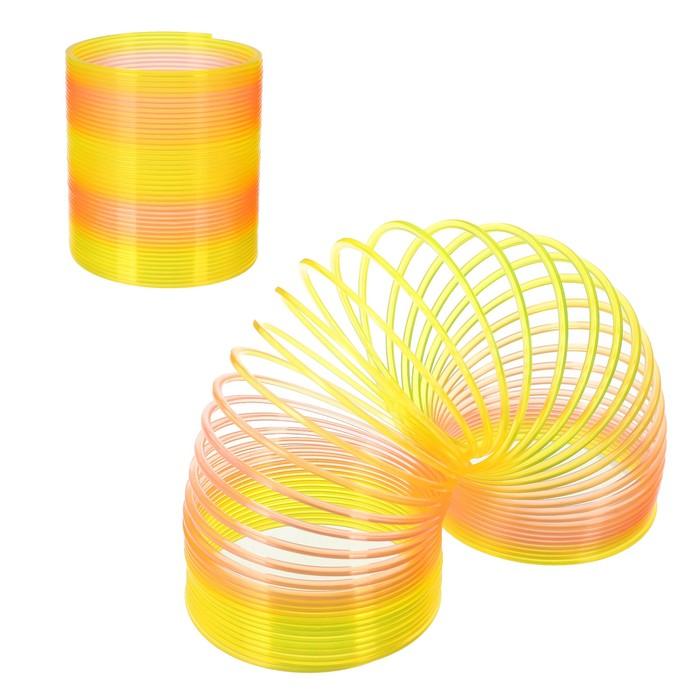 Пружинка-радуга 8,5х8,5х9,5 см, цвет жёлтый