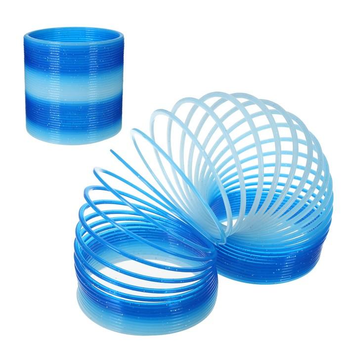Пружинка-радуга 10х10х9 см, цвет синий