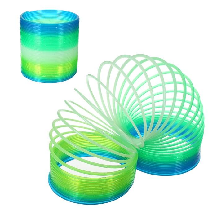 Пружинка-радуга 10х10х9 см, цвет зелёный