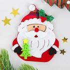 """Набор для творчества - создай елочное украшение из фетра """"Дед мороз с елочкой"""""""