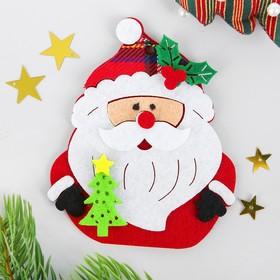 Набор для творчества - создай ёлочное украшение из фетра «Дед мороз с ёлочкой»