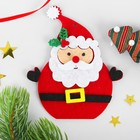 """Набор для творчества - создай елочное украшение из фетра """"Дед мороз - красный нос"""""""