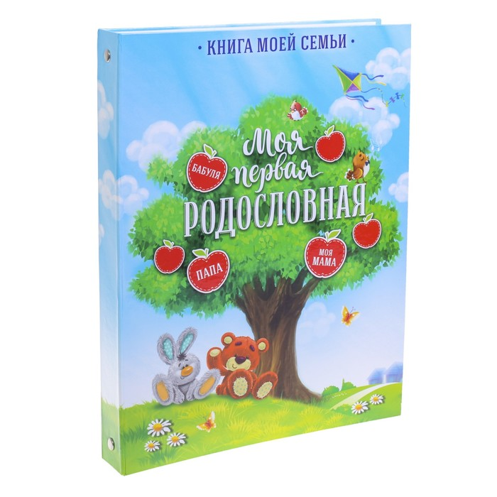 Детская родословная папка «Яблоки», 16 листов, 24,5 х 32 см