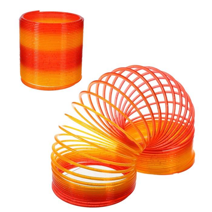 Пружинка-радуга 10х10х9 см, цвет оранжевый