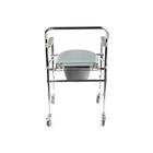 Кресло-туалет WC Mobail, с санитарным оснащением, с колесами