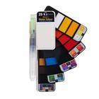 Краски акварельные Superior, профессиональные, 25 цветов, палитра, цветовая карта, с кистью