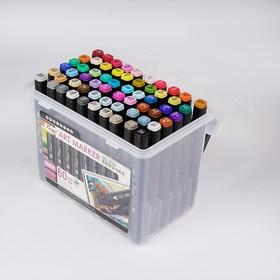 Набор маркеров профессиональных двусторонних Superior Tinge, чёрный корпус, 60 шт., 60 цветов MS-818