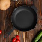 Сковорода чугунная 26x6 см, с двумя сливами
