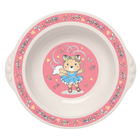 Миска детская глубокая, 370 мл, цвет розовый