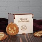 Набор значков для Хэллоуина в коробочке 10 шт, тёмные