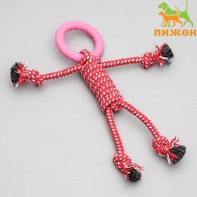 """Игрушка канатная """"Человечек"""" с игрушкой из термопластичной резины"""