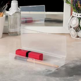 A container for storing cosmetics, with cap, 1 section, white