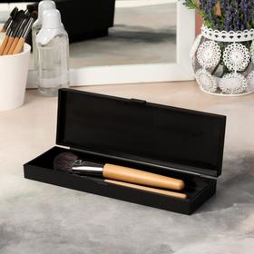 A container for storing cosmetics, with cap, 1 section, black