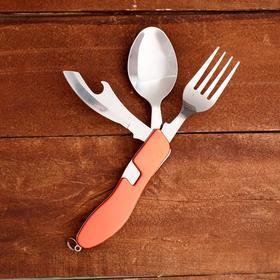 Набор туриста 3в1: вилка, ложка, нож с открывалкой