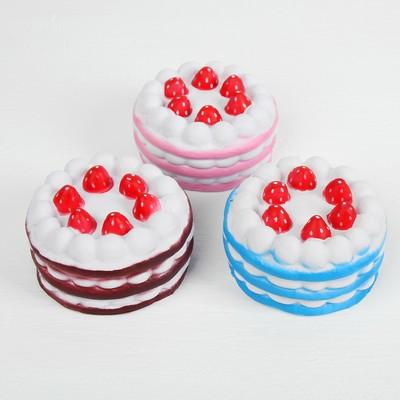 Мялка-сквиши «Торт», цвета МИКС