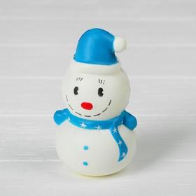 Мялка-сквиши «Снеговик», цвета МИКС