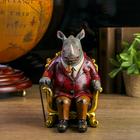 "Сувенир полистоун ""Носорог в кресле"" 20,5х13,5х16 см"