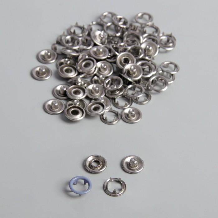 Кнопки рубашечные, d = 9,5 мм, 1000 шт, цвет серый