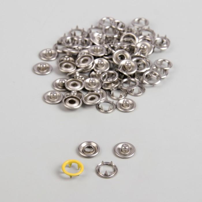 Кнопки рубашечные, d = 9,5 мм, 1000 шт, цвет жёлтый
