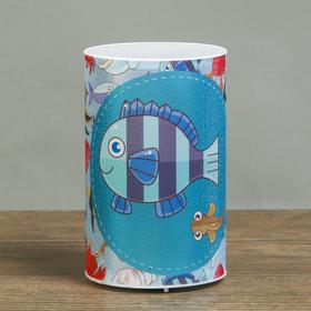 Ночник пластик 'Подводный мир' от батареек CR2032х1 7,1х7,1х11,3 см Ош