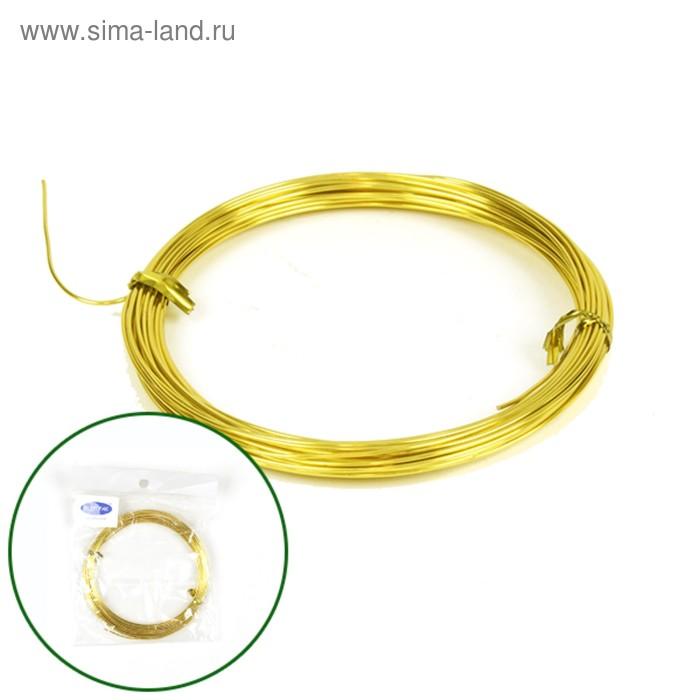 Проволока бонсайная, 1 мм х 10 м, золотой