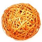 Шар из лозы, 25 см,оранжевый