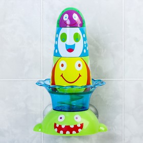 Игрушки для купания «Веселая пирамидка», на присоске