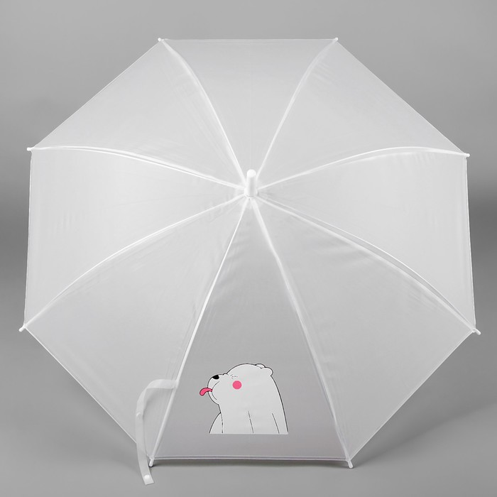 """Зонт детский """"Мишка-задира"""", белый"""