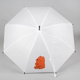 """Зонт детский """"Пухлый мишка"""",коричневый"""