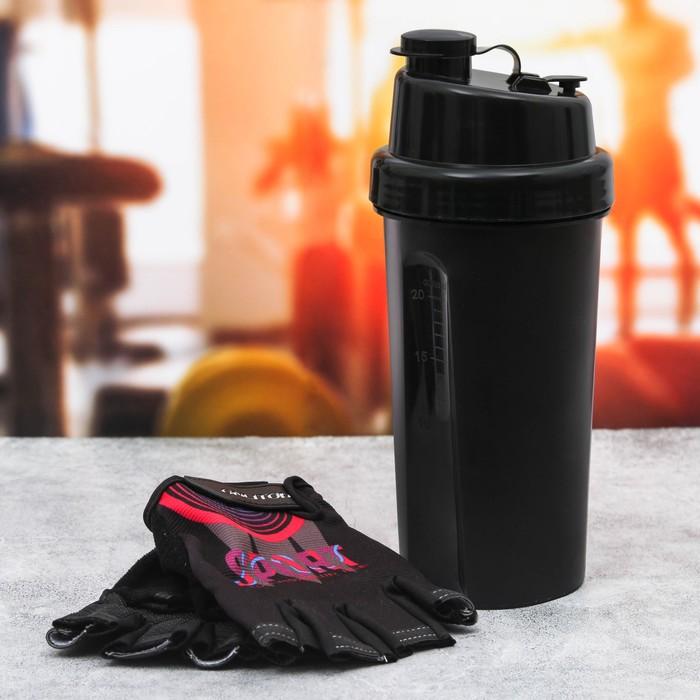 "Набор ""Sport"", перчатки 10 х15 см, шейкер 600 мл"