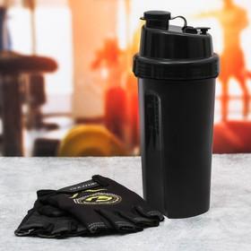 Набор для тренировок «Extreme»: шейкер 600 мл, перчатки 10 × 15 см