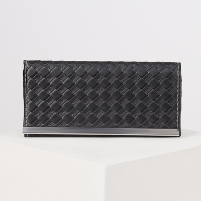 Female purse, 3 sections for cards, black