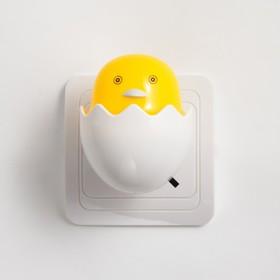 Ночник LED 'Цыплёнок в яйце' 6,5х6х6 см Ош