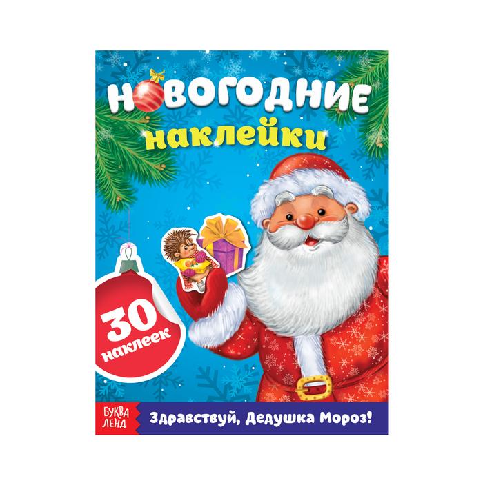 Книжка с наклейками «Здравствуй, Дедушка Мороз», 12 страниц