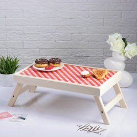 Столик для завтрака 'Красная клетка' Ош