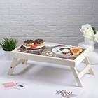 """Столик для завтрака """"Доброе утро, кофе"""", 48×28 см"""