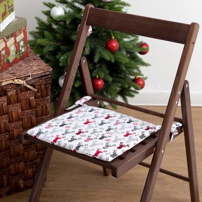 "Pillow on chair ""Ethel"" Horns, 32x32, reps 100% cotton 165g/m2"