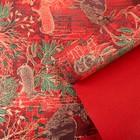 Бумага упаковочная крафт, красно-золотой, 0,5 х 10 м
