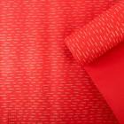 Бумага упаковочная крафт, красно-золотая, 0.5 х 10 м