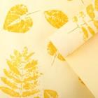 Бумага упаковочная крафт, кремово-золотая, 0.5 х 10 м